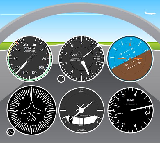 HTML5 (JavaScript) Gauges In Live Cockpit Demo